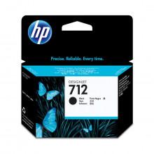 Cartucho de Tinta HP 712 Preto 3ED70A | Plotter T250 5HB06A T650 5HB08A 5HB10A | Original 38ml