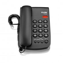 Telefone com Fio Elgin TCF 2000 com Pause Flash e Redial | Preto