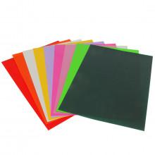 Capa para Encadernação Amarelo | Textura Couro | A4 100 Unidades
