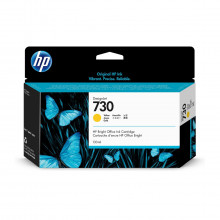 Cartucho de Tinta HP 730 Amarelo P2V64A | Plotter HP T1600 T1700 | Original 130ml