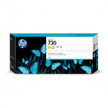 Cartucho de Tinta HP 730 Amarelo P2V70A | Plotter HP T1600 T1700 | Original 300ml