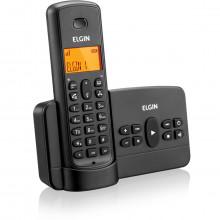 Telefone Sem Fio Elgin TSF 800SE com Secretária Eletrônica ID e Viva Voz | Preto