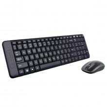 Kit Teclado e Mouse Logitech Wireless MK220