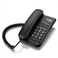 Telefone com Fio Elgin TCF2200 com Chave de Bloqueio, Flash e Hold   Preto