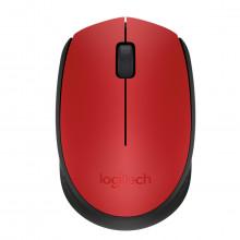 Mouse Wireless Sem Fio Mini USB Óptico Logitech M170 910-004639 | Vermelho