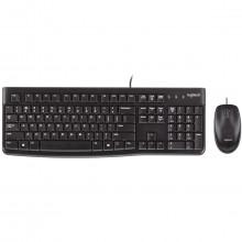 Kit Teclado e Mouse Logitech Desktop USB MK120