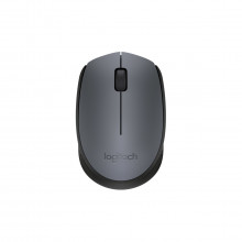 Mouse Wireless Sem Fio Mini USB Óptico Logitech M170 910-004425 | Preto/Cinza