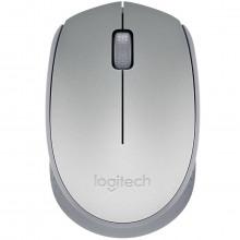 Mouse Wireless Sem Fio Mini USB Óptico Logitech M170 910-005334 | Prata
