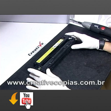 Video Recarga do Toner 128A, CE320A, CE320 CE321A, CE322A, CE323A, HP CM1415, CM1415NW