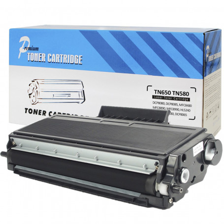 Toner Compatível com Brother TN650   HL5340D HL5370DW HL5380D MFC8480DN DCP8080   Premium 7k