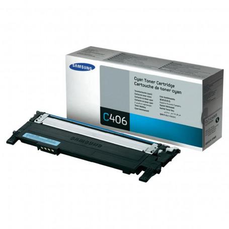 Toner Samsung CLT-C406S Ciano | CLP360 CLX3305 CLP365W CLP365 C460W C460FW C410W | Original 1k