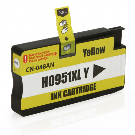 Cartucho de Tinta Compatível com HP 951XL 951 CN048A Amarelo | Pro 8100 Pro 8600W Pro 8610 | 20ml