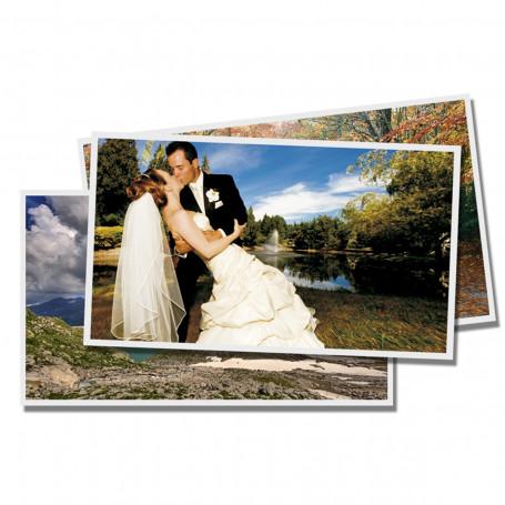 Papel Fotográfico Glossy Brilhante Dupla Face   220g tamanho A4   Pacote com 20 folhas