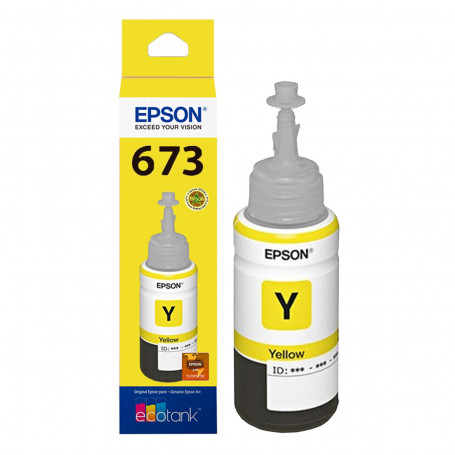 Tinta Epson T673 T673420 Amarelo | L800 L810 L805 L1800 L850 | Original 70ml