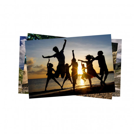 Papel Fotográfico Glossy Brilhante | 135g tamanho A4 | Pacote com 50 folhas