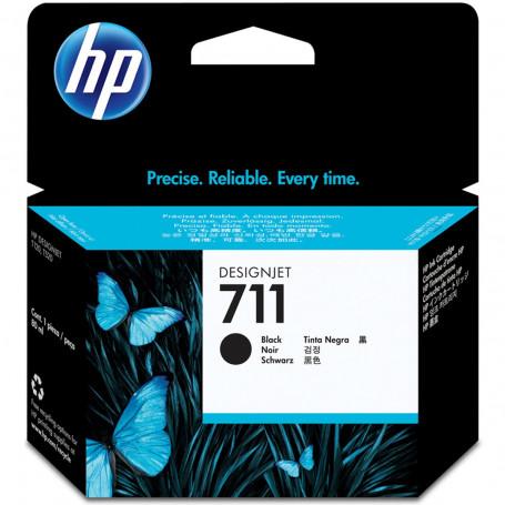 Cartucho de Tinta HP 711 CZ133A Preto | Plotter T120 T520 T130 CQ891A CQ890A CQ893A | Original 80ml