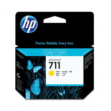 Cartucho de Tinta HP 711 CZ136A CZ136AB Amarelo | Pacote com 3 Unidades de 29ml cada | Original