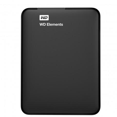 HD Externo 1TB Portátil | Elements Preto USB 3.0 | Western Digital WDBUZG0010BBK-WESN