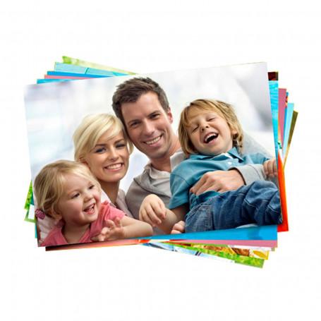 Papel Fotográfico Glossy Brilhante Adesivo   130g tamanho A4   Pacote com 50 folhas