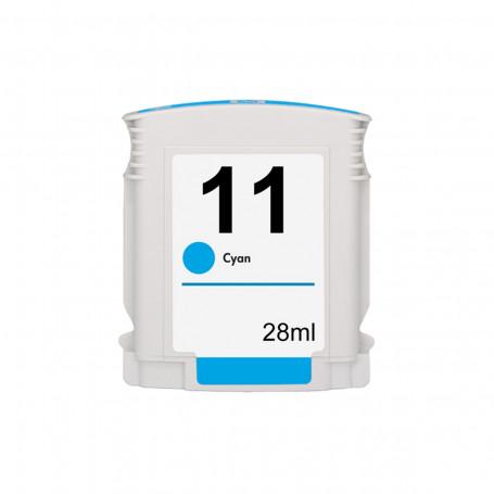 Cartucho de Tinta Compatível com HP 11 C4836A Ciano   1000 2200 2300 2600 2800 3000 CP1700   28ml