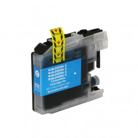 Cartucho de Tinta Compatível com Brother LC-505C LC505 Ciano   MFC-J200 DCP-J105 DCP-J100 11ml