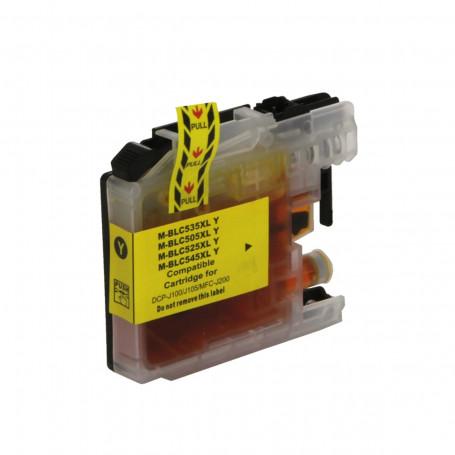 Cartucho de Tinta Compatível com Brother LC-505Y LC505 Amarelo   MFC-J200 DCP-J100 DCP-J105 11ml