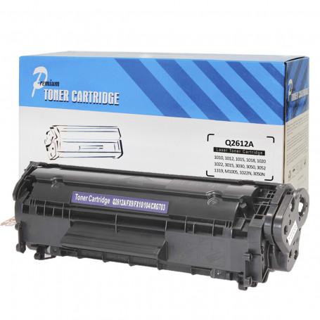 Toner Compatível com HP Q2612A 2612A 12A | 1010 1012 1015 1018 1020 1022 3015 3030 3050 | Premium 2k