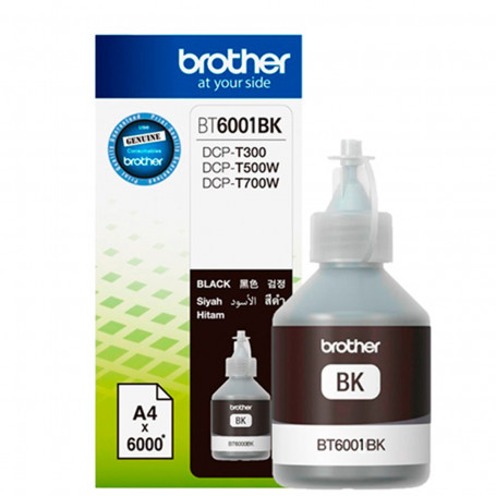 Tinta Brother BT-6001BK BT6001 Preto | DCP-T300 DCP-T500W DCP-T700W MFC-T800W | Original 108ml