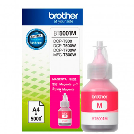 Tinta Brother BT-5001M BT5001 Magenta | DCP-T300 DCP-T500W DCP-T700W MFC-T800W | Original 41.8ml