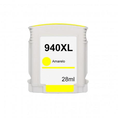 Cartucho de Tinta Compatível com HP 940XL 940 C4909AL Amarelo | 8500 8000 8500W 8000WL 28ml