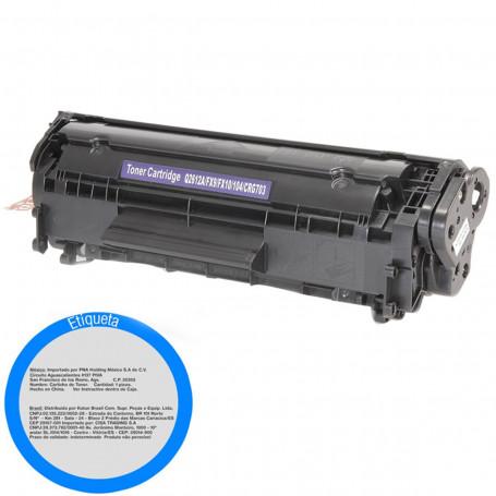 Toner Compatível com HP Q2612A Q2612AB | 1010 1015 1018 1020 1022 3015 3020 3050 | WB By Katun 2k