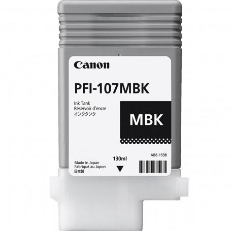 Cartucho de Tinta Canon PFI-107 PFI-107MBK Preto Fosco   Original 130ml