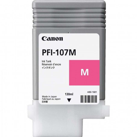 Cartucho de Tinta Canon PFI-107 PFI-107M Magenta   Original 130ml