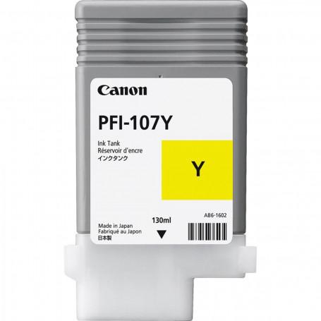 Cartucho de Tinta Canon PFI-107 PFI-107Y Amarelo   Original 130ml