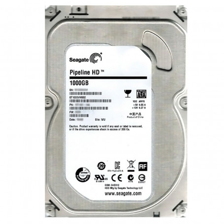"HD Interno 1TB Seagate Vídeo 3.5"" (polegadas) HDD Pipeline ST1000VM002 64MB Cache SATA 6gb/s DVR"