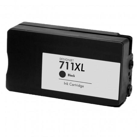 Cartucho de Tinta Compatível com HP 711 Preto CZ133A | T520 T120 CQ890A CQ891A CQ893A | 75ml