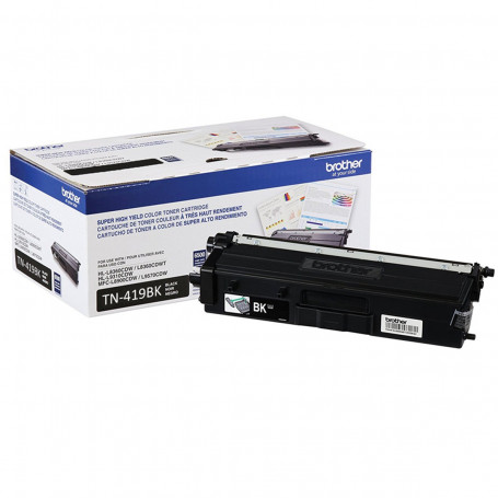 Toner Brother TN-419BK Preto | HL-L8360CDW MFC-L8610CDW MFC-L8900CDW MFC-L9570CDW | Original 9k