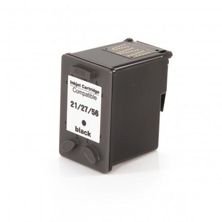Cartucho de Tinta Compatível com HP 27 Preto C8727AB C8727AL C8727A C8727CB   18ml