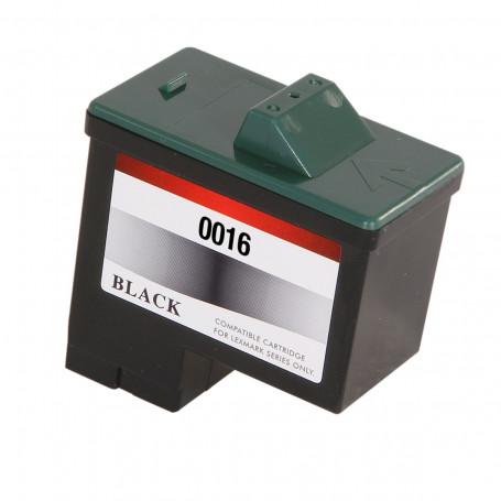 Cartucho de Tinta Compatível com Lexmark 16 10N0016 Preto   Z645 Z647 X1270 X1185 Z513 X1195   15ml