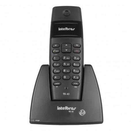 Telefone Sem Fio Intelbras TS 40 | Preto