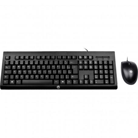 Kit Teclado e Mouse HP USB Com Fio C2500