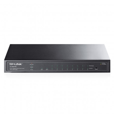 Switch TP-LINK TL-SG2210P 1000Mbps de 08 portas com 2 Slots SFP