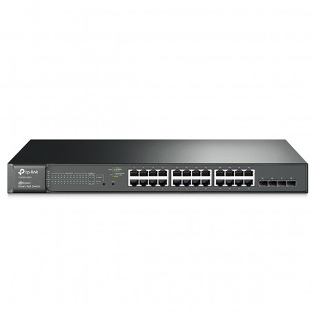 Switch TP-LINK T1600G-28PS (TL-SG2424P) 1000Mbps de 24 portas com 4 Slots SFP Jetstream