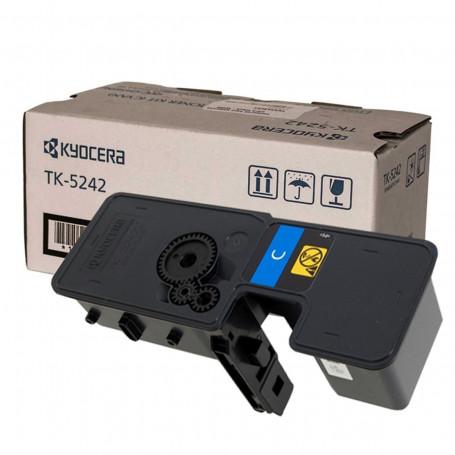 Toner Kyocera TK 5242C Ciano | M5526CDW P5026CDN M5526 P5026 5526CDW 5026CDN 5526 5026 | Original 3k