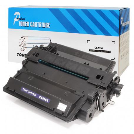 Caixa com 8 Toner Compatível com HP CE255X CE255XB | P3015 M525 M521 M521DN P3015N M525F | Premium