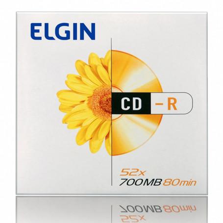 CD-R Elgin Envelope com 1 Unidade 82053   Capacidade de 700MB ou 80MIN e Velocidade de 52x