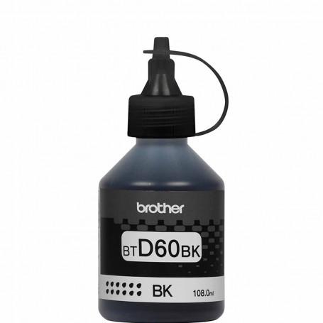Tinta Brother BTD60BK BT-D60 Preto | MFC-T810W MFC-T4500DW MFC-T910DW HL-T4000DW | Original 108ml