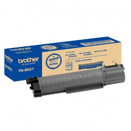 Toner Brother TN-B021 Preto | DCP-B7520DW B7520DW DCP-B7535DW B7535DW | Original 2.6K