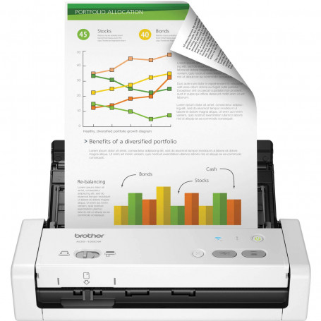 Scanner Brother ADS-1250W Portátil Conexão Wireless e Duplex