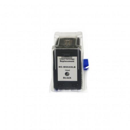 Cartucho de Tinta Compatível com HP 664XL Preto F6V31A | 2136 1115 3636 3635 3836 3776 | 14ml